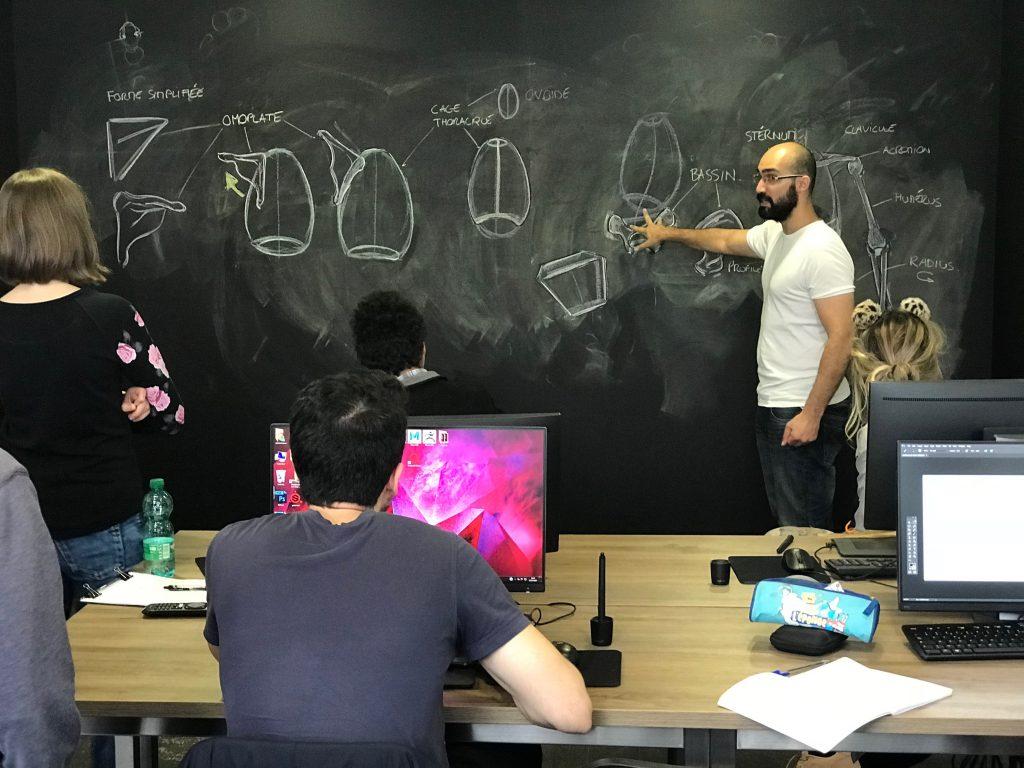 Enseignement sur la structure du corps humain
