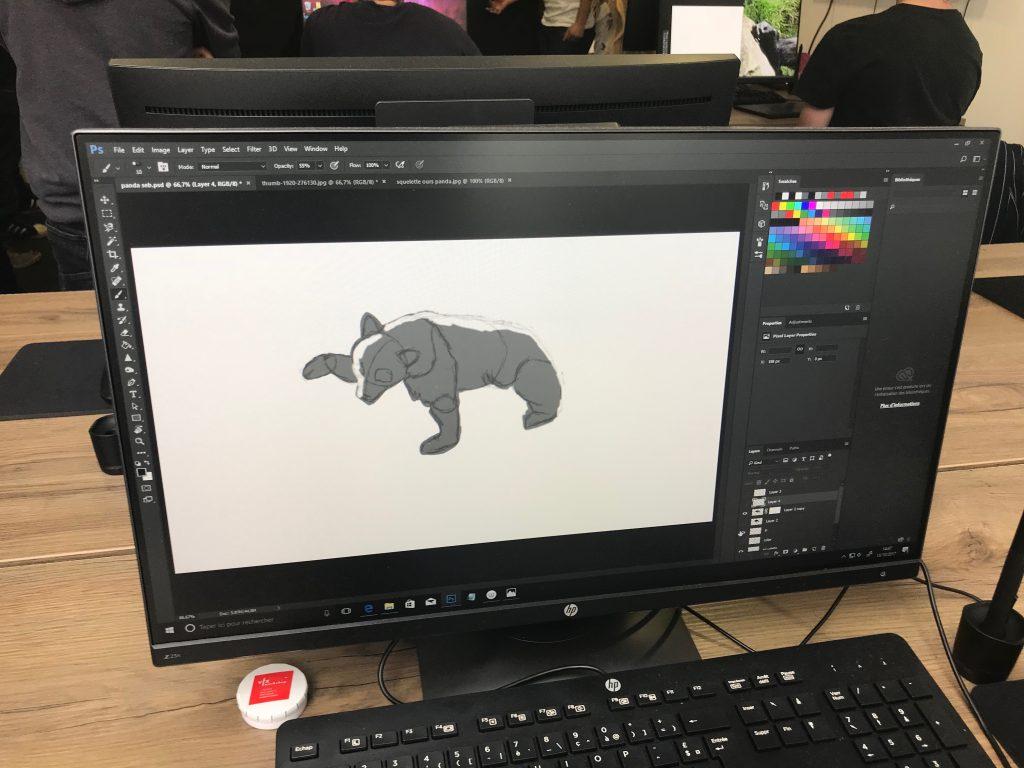 travail de la silhouette
