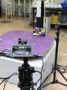 Premiers filmages et captations HDRI dans le studio
