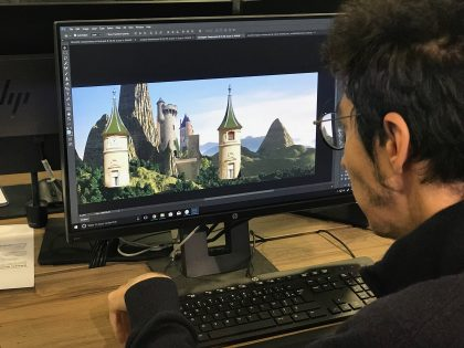 on continue le travail de Matte-Painting